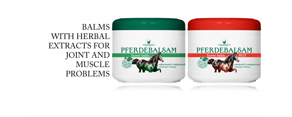 herbamedicus horse balms with herbal extracts